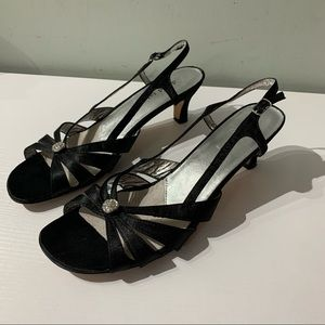 David tate women's Cheer Slingback sandals heels
